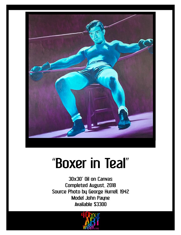16 boxer teal portfolio sheets